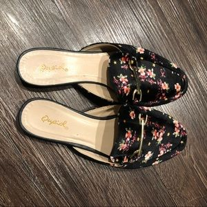 Qupid Shoes - Quipd velvet floral loafers 7